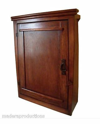 Handmade Mission  Arts/Crafts Style Tapered Wood Wall Cabinet