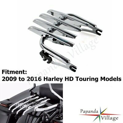 Motorcycle Accessories & Parts Carrier Systems Punctual New Rigid Stealth Luggage Rack For Harley Touring Electra Glide Standard Road King 99-08