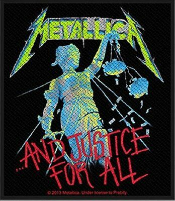 Metallica - Justice For All - Woven Patch - Brand New - Music 2731