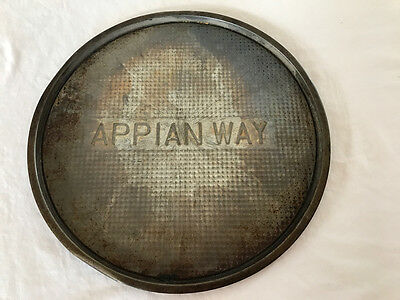 Appian Way Vintage Rare Round Pizza Pan 13""