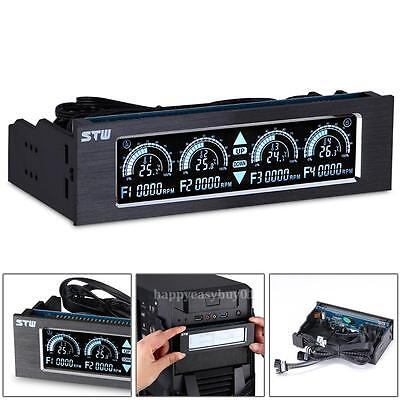 PC CD Driver Slot Touch Screen Cooling 4 Fan Speed CPU Temperature Controller