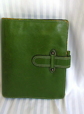 Very Nice Franklin Covey Unstructured Classic Planner Organizer Full Gr Leather