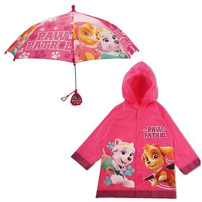 Nickelodeon Paw Patrol Slicker and Umbrella Rainwear Set, Little Girls, Age 2-7