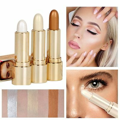 HANDAIYAN 3 Colors Face Brighten Concealer 3D Contouring Highlighter Stick