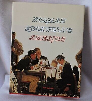 Norman Rockwell's America Hardcover Book-Illustrated-1975-Color Coffee Table Ed.