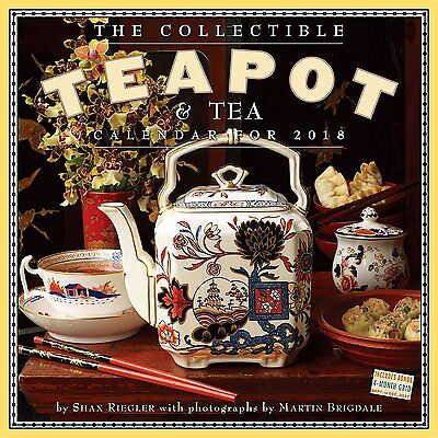 Collectible Teapot & Tea - 2018 Wall Calendar - Brand New - 19399
