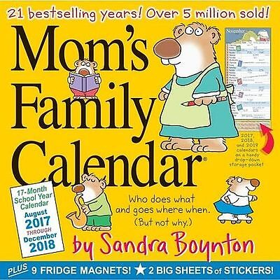 Mom's Family - 2018 Wall Calendar - Brand New - Stickers 19349
