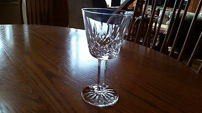 """Waterford Crystal Lismore Pattern Claret Wine Glass 5 7/8"""" Tall - Excellent"""