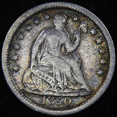 1850 Seated Liberty Half Dime Better Date ** Free Shipping!