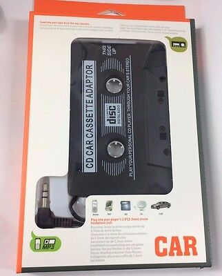 3 x  Car Casette Tape 3.5mm AUX Audio Adapter MP3 Player  Tape Converter