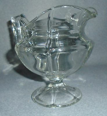 """Vintage Heisey 5"""" Footed Paneled Crystal Pitcher"""
