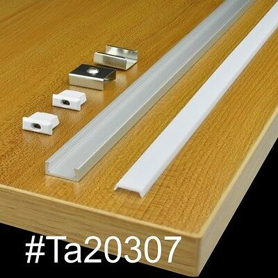"TECLED 46"" 4Ft. Aluminum Profile for LED Strip/Tape Light Surface Mount Anodized"
