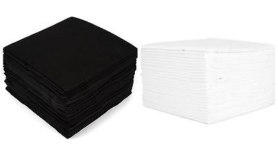50 Pieces Black White Disposable Hand Hair Salon Tanning Barber Towels 40x80cm