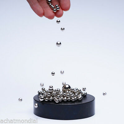 Magnetic Sculpture Desk Toy 170Steel Ball Magnet Base Stress Relief Office Decor
