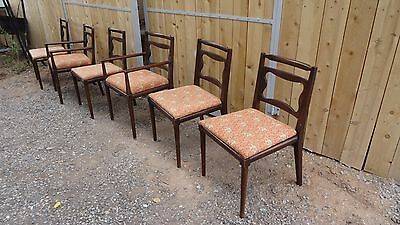 Mid Century Modern Dining Set Table 2 Extension Leafs Set 6 Chairs Vintage