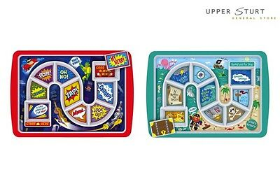 Dinner Winner Super Hero and Pirate Plates Both Included 2 Pack Melamine