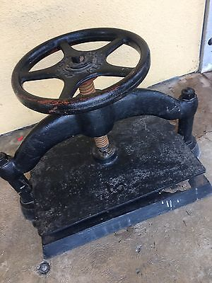 Kennedy Antique Book Press. Cast Iron. Heavy Duty.