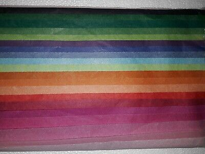 Tissue Paper Multi Colour Pack Large Sheets 50 x 70 cm - 36 packs of 20 sheets