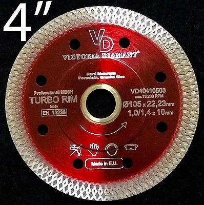 VD Turbo Rim Thin Mesh Diamond Saw Blade Porcelain Granite Hard Tile 4 inch 4""