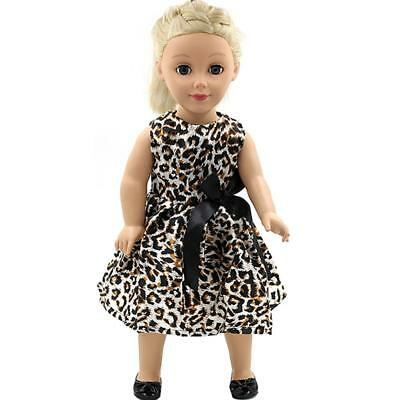 Handmade Fashion Leopard Dress for 18inch American Girl Dolls Party Costome