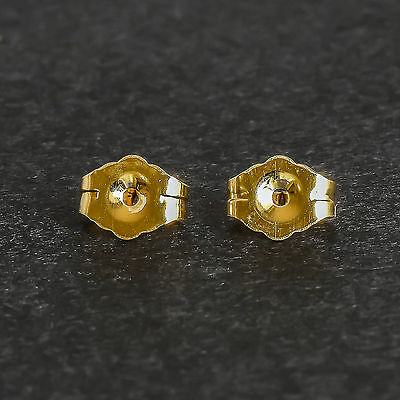 Gold Butterfly Butterflies. 9K 375 9Ct Real Gold Earring Backs Sold By The Pair.