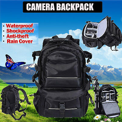 Waterproof DSLR SLR Camera Backpack Bag Case for Canon Nikon Sony Shockproof AHG