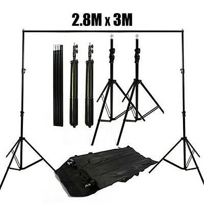 Heavy Duty Photography Studio 2.8x3m Backdrop Stand Background Support Stands AU