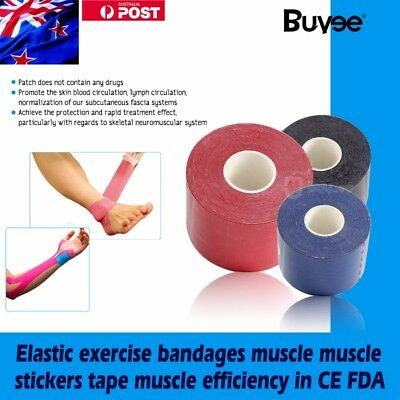 5CM x 5M Kinesiology Elastic Sports Physio Tapes Adhesive Muscle Bandage