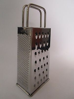 """Stainless Steel 8"""" Box 4 Sided Box Cheese Graters UK SELLER"""