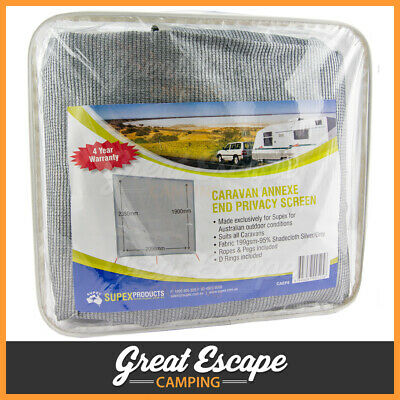 Supex Caravan Annexe End Privacy Screen Shade Sunscreen for Roll Out Awning