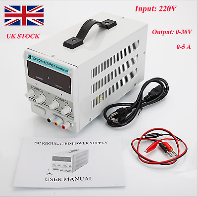 NEW 5A 30V DC Power Supply Adjustable Dual Digital Variable Precision Lab Grade