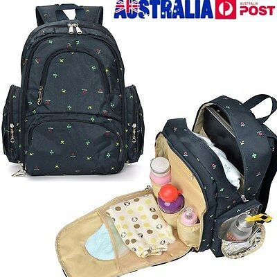 Multifunction Mummy Mother Nappy Diaper Backpack Newborn Baby Pad Changing Bag