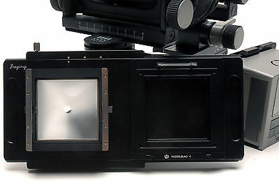 Moveable adapter for Hasselblad v Back to Arca swiss 6X9 Camera Photograph