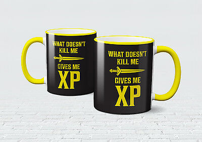 Gaming XP Doesn't Kill Me Mug MMO RPG Game Runescape Coffee Tea Cup RS Online