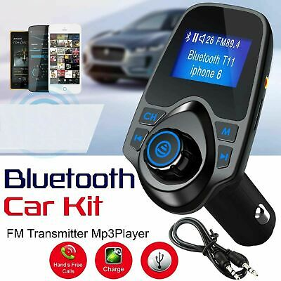 Car Wireless Bluetooth FM Transmitter LCD MP3 Player Radio Adapter USB Charger