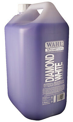 Wahl Showman Diamond White Shampoo 500ml or 5 litre Horses Dogs Cattle etc