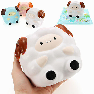 Squishy Jumbo Sheep 13cm Slow Rising Soft Squeeze Phone Charm Stress Relieve Toy