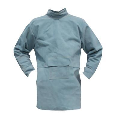 Welding Long Coat Apron Protective Clothing Apparel for Welder 85cm Blue