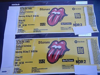 2 Top Tickets Rolling Stones No Filter Tour Hamburg 2017 Silver Pit Preis für 2!