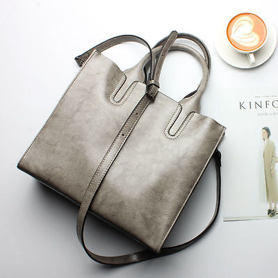 Fashion Women Handbag Shoulder Bag Tote Purse Genuine Leather Large Capacity