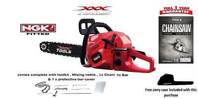 """62cc Petrol Chainsaw, Assisted Start, WALBRO CARB, 20"""" Blade, 1 x Oregon Chain"""