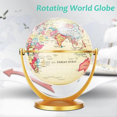 World Map Globe Earth Vintage Desk Ornament Decor Geography Educational Toy