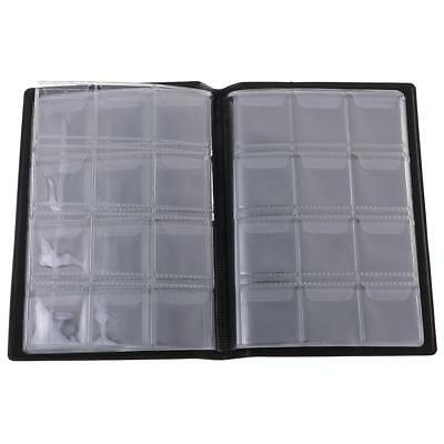 120 Coins Collecting Holder Penny Pockets Storage Folder Album 10 Pages Blue