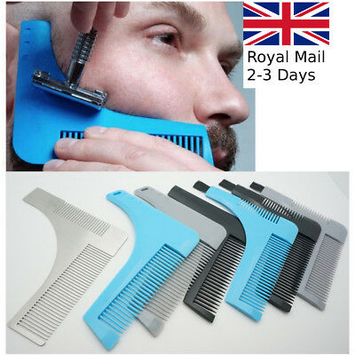Stainless Steel Plastic Beard Styling Shaping Template Comb Facial Hair Tool