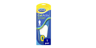 Scholl Gel Activ Sports Insoles For Men Shock Absorption UK 8-13 **Free P&P**