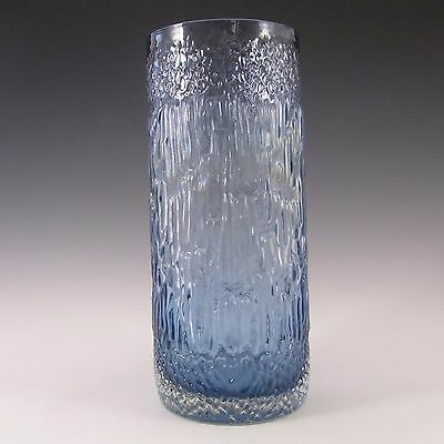 Wedgwood/Stennett-Willson Blue Glass Textured Vase #2