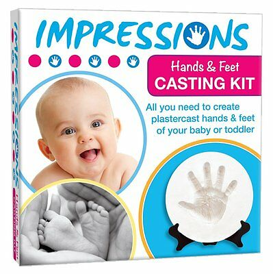 IMPRESSIONS BABY or TODDLER HANDS & FEET CASTING MOULD PLASTER KIT CHRISTENING