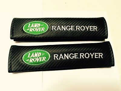2x Land Rover Range Rover Carbon Fiber Seatbelt Pads Shoulder Seat Belt Pad , UK