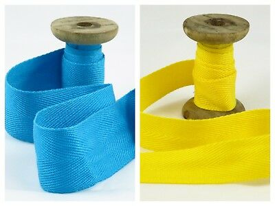 Yellow acrylic webbing tape 25mm :: straps :: belting :: bag making (W005)