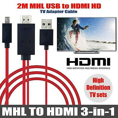 MHL Micro USB to HDMI 1080P HD TV Cable Adapter for Android Smart Phones Samsung